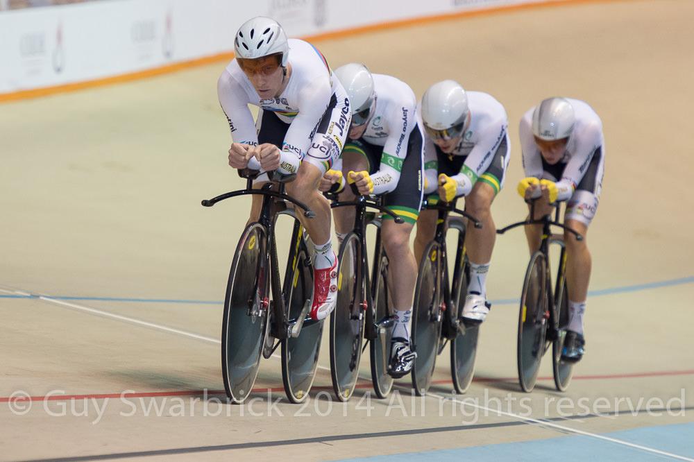UCI Track World Cup Series 2014-15 Round I - Guadalajara, Mexico - Friday - Men's Team Pursuit - Australia