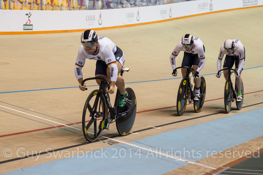 UCI Track World Cup Series 2014-15 Round I - Guadalajara, Mexico Session I - Friday Men's Team Sprint - Germany